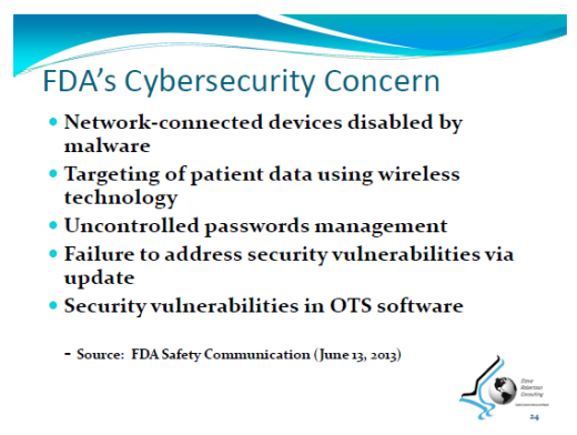 FDA Concerns with Cybersecurity
