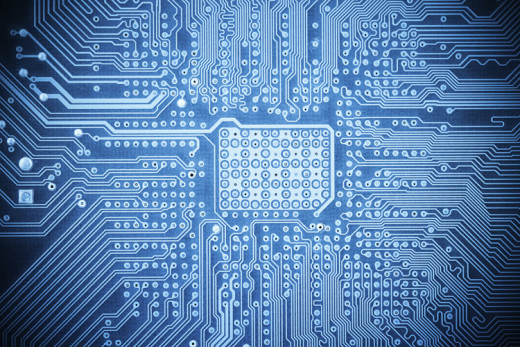 blue computer circuit board image - iStock