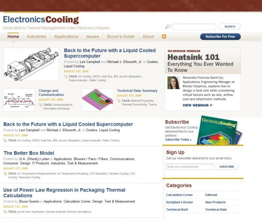 New ElectronicsCooling Magazine Web Site