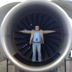 J.VanDomelen in jet engine intake Future of Flight Museum