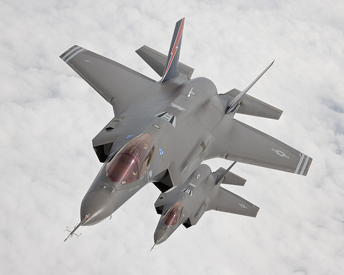 F-35 Joint Strike Fighter in action.