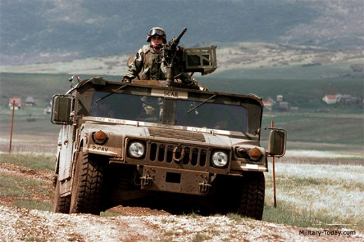 HMMWV or Humvee in the field.