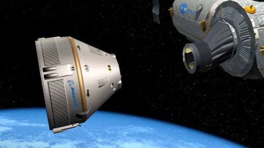 Computer rendering of the Boeing CST-100 docking