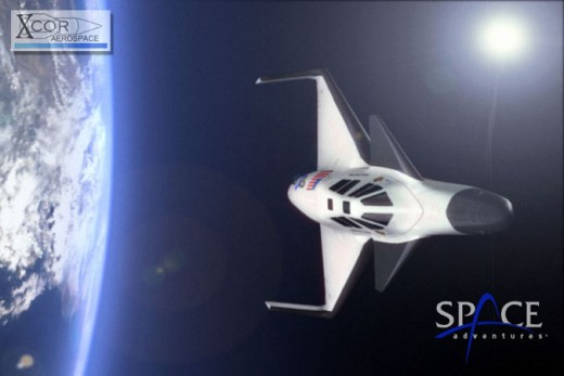 Sub-Orbital Spacecraft Announced by XCOR and Space Adventures