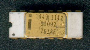 Intel 1449 memory chip. It is originally a C2102, restamped for military use