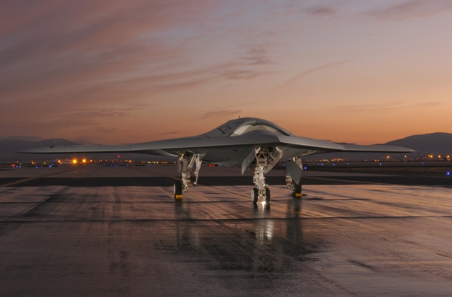 Northrop Grumman's U.S. Navy X-47B tailless unmanned aircraft