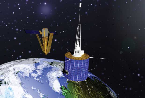 Russian satellite and a privately owned American communications satellite that collided near the North Pole
