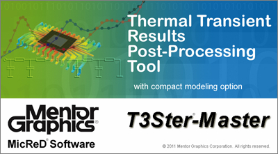The new T3Ster-Master program is a powerful tool to support test based compact modeling. It uses the new JESD51-14 RthJC measurement standard to find the case node of a package model to be propagated towards FloTHERM.