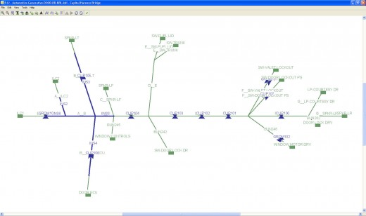 KBL Format harness file visualized in- CHS Harness Bridge Viewer