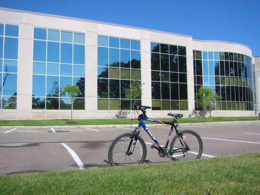 An example of transportation without a wiring harness - Mentor Graphics Detroit office in background