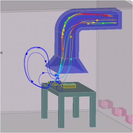 Use CFD to understand complex flow fields including exhaust. Image courtesy of Mentor Graphics.