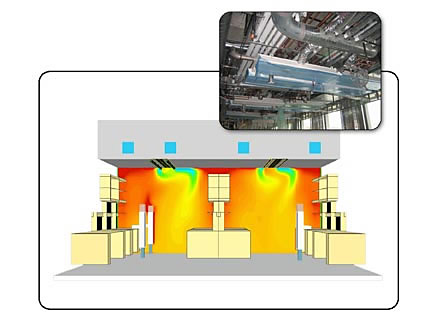 Affiliated Engineers use FloVENT to optimize chilled beam cooling system and cut energy consumption by 20%. Image courtesy of AEI and Mentor Graphics.
