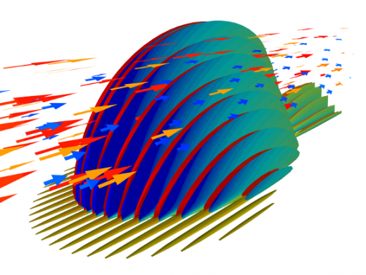 Optimized heatsink design with FloTHERM 9. Image courtesy of Mentor Graphics.