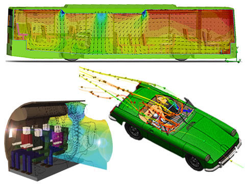 Understanding passenger comfort with CFD. Images courtesy of Mentor Graphics.