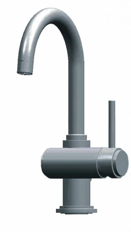 A modern kitchen tap. Image courtesy of Grohe and Mentor Graphics.