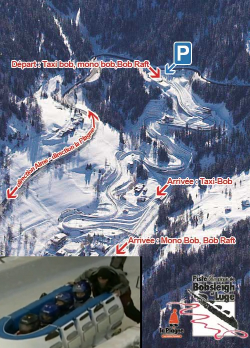 The piste map with the image of the bobraft. Images are properties of their original owners.