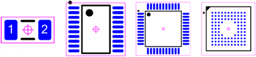 Figure 1 - IPC-7351 Pin 1 Upper Left (IEC 61188-7 Level A)