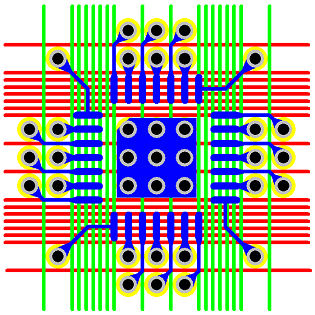 Figure 17 - 0.4 mm Pitch QFN Via Fanout &amp; Routing Solution