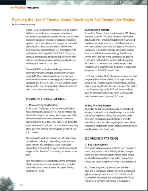 2015-4-8 front page of Oracle Ram N VH article